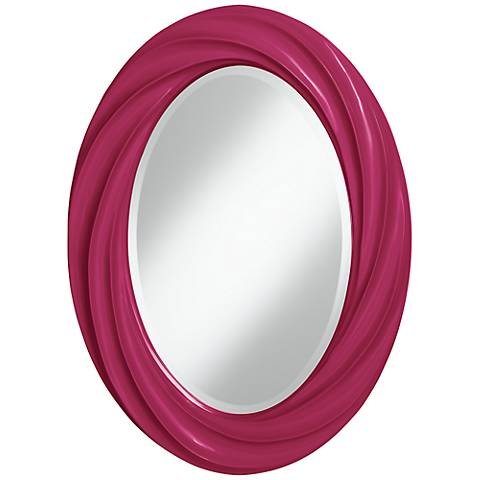 "Vivacious 30"" High Oval Twist Wall Mirror"