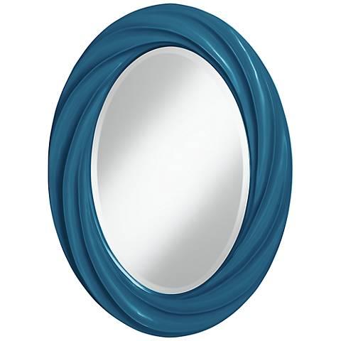 """Bosporus 30"""" High Oval Twist Wall Mirror"""