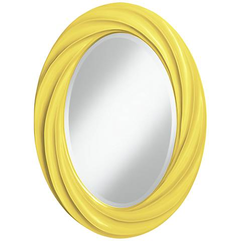 "Lemon Twist 30"" High Oval Twist Wall Mirror"