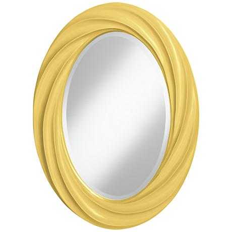 "Daffodil 30"" High Oval Twist Wall Mirror"