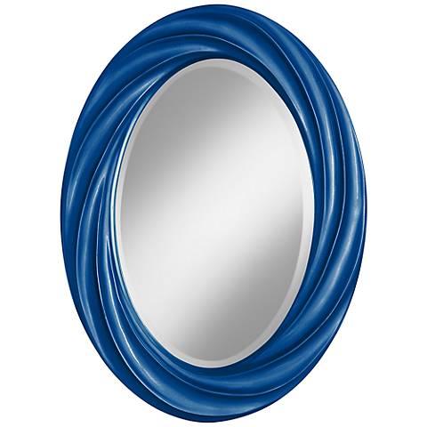 "Ocean Metallic 30"" High Oval Twist Wall Mirror"