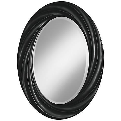 "Caviar Metallic 30"" High Oval Twist Wall Mirror"