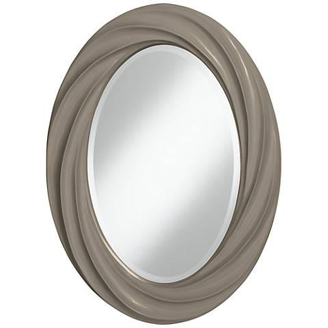 "Backdrop 30"" High Oval Twist Wall Mirror"