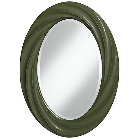 "Secret Garden 30"" High Oval Twist Wall Mirror"