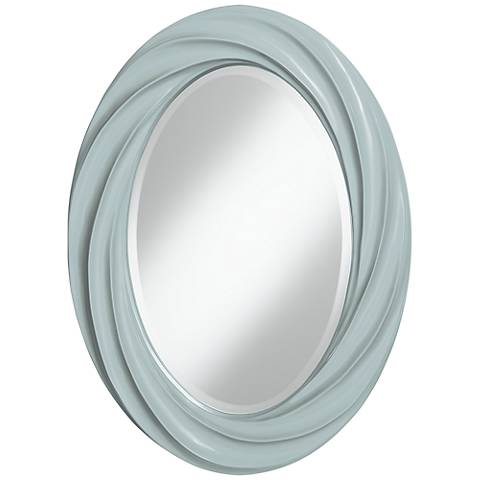 "Rain 30"" High Oval Twist Wall Mirror"