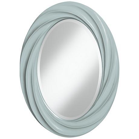 "Rain 30"" High Oval Twist Wall Mirror"