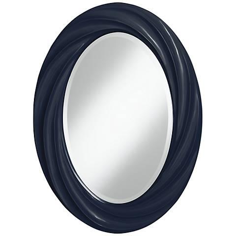 "Naval 30"" High Oval Twist Wall Mirror"