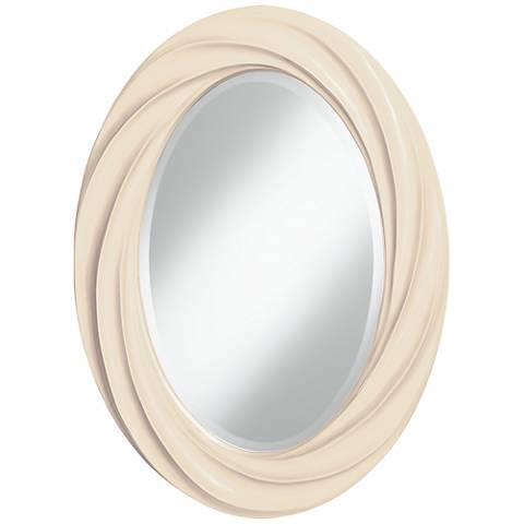 "Steamed Milk 30"" High Oval Twist Wall Mirror"