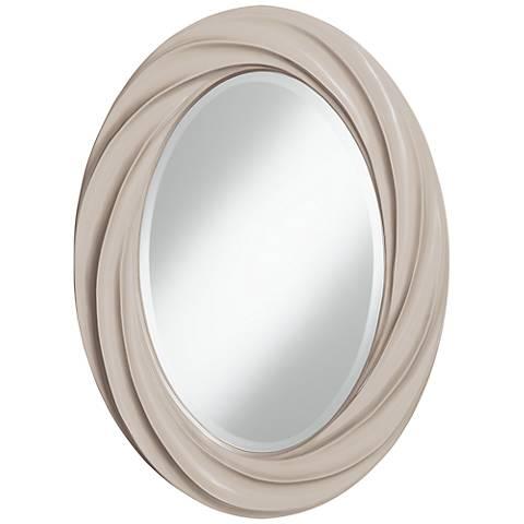 """Pediment 30"""" High Oval Twist Wall Mirror"""