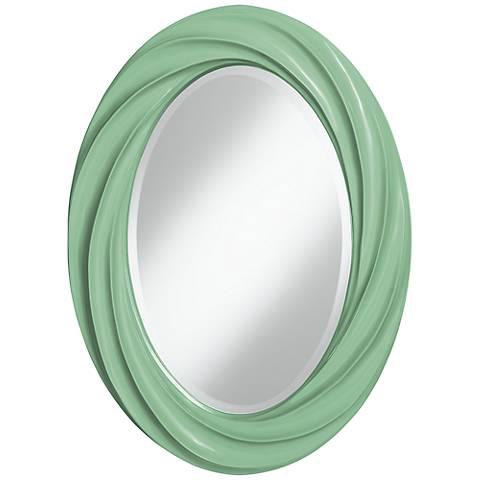 "Hemlock 30"" High Oval Twist Wall Mirror"