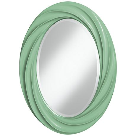 "Hemlock 30"" High Oval Twist Wall Mirror"