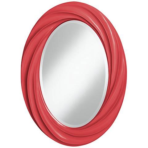 """Cayenne 30"""" High Oval Twist Wall Mirror"""