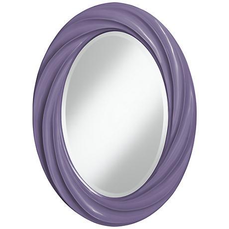 """Purple Haze 30"""" High Oval Twist Wall Mirror"""