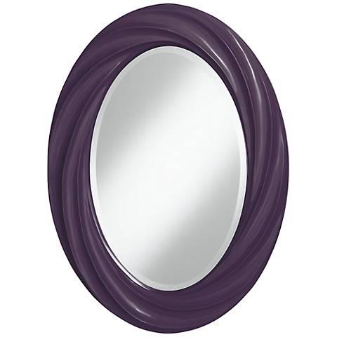 """Quixotic Plum 30"""" High Oval Twist Wall Mirror"""
