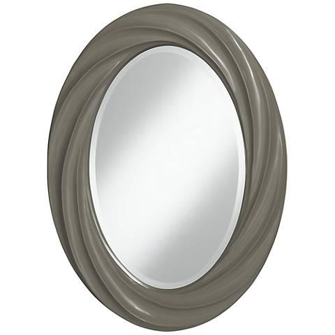 "Gauntlet Gray 30"" High Oval Twist Wall Mirror"