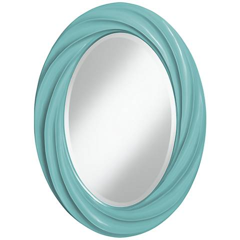 "Nautilus 30"" High Oval Twist Wall Mirror"