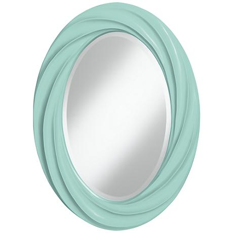 "Cay 30"" High Oval Twist Wall Mirror"