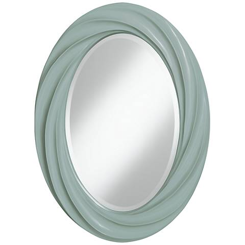 "Aqua-Sphere 30"" High Oval Twist Wall Mirror"