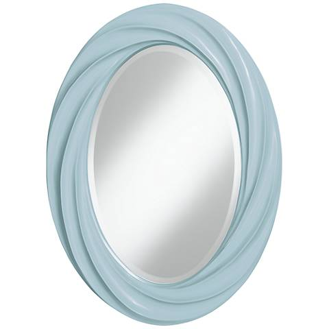 "Vast Sky 30"" High Oval Twist Wall Mirror"