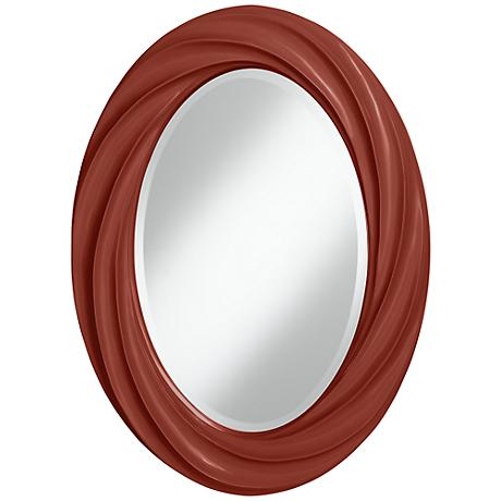 "Madeira 30"" High Oval Twist Wall Mirror"