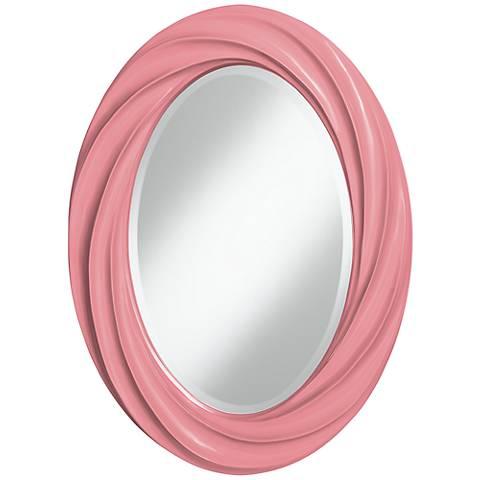 "Haute Pink 30"" High Oval Twist Wall Mirror"