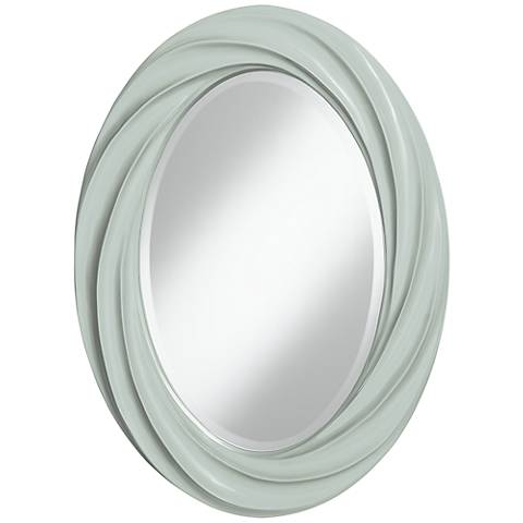 "Take Five 30"" High Oval Twist Wall Mirror"