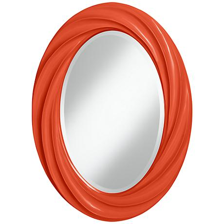 "Daredevil 30"" High Oval Twist Wall Mirror"
