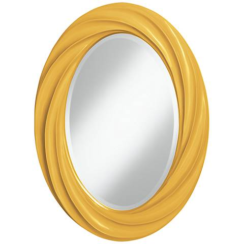 """Goldenrod 30"""" High Oval Twist Wall Mirror"""