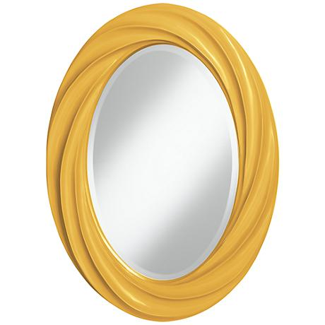 "Goldenrod 30"" High Oval Twist Wall Mirror"