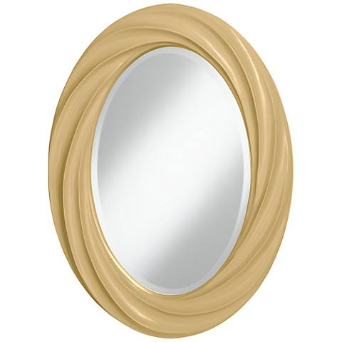 "Humble Gold 30"" High Oval Twist Wall Mirror"