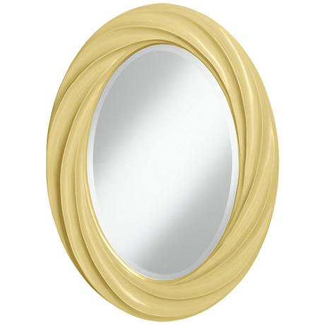 "Butter Up 30"" High Oval Twist Wall Mirror"
