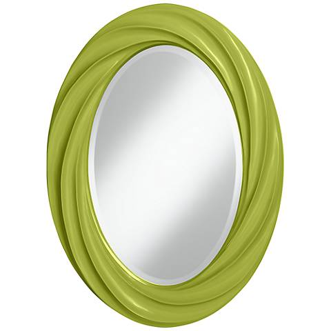"Parakeet 30"" High Oval Twist Wall Mirror"