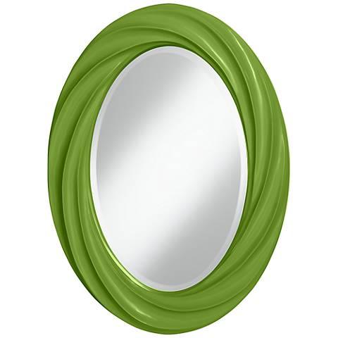 """Gecko 30"""" High Oval Twist Wall Mirror"""