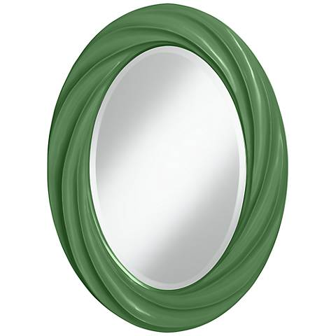 "Garden Grove 30"" High Oval Twist Wall Mirror"
