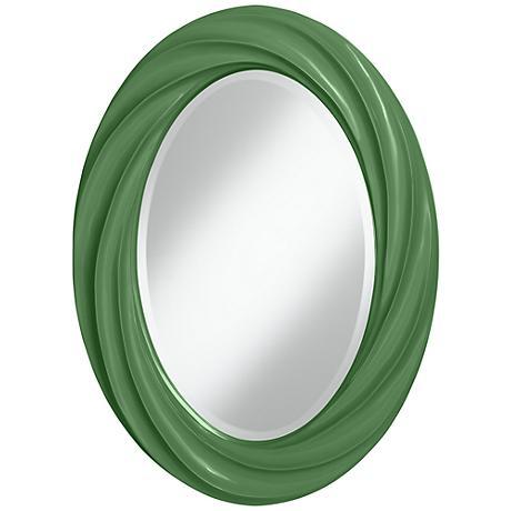 "Garden Grove 30"" High Oval Twist Wall Mirror"