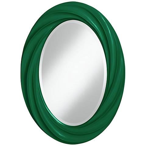 """Greens 30"""" High Oval Twist Wall Mirror"""