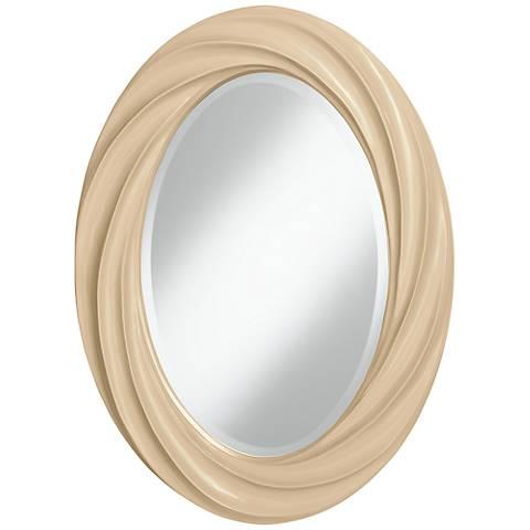 "Colonial Tan 30"" High Oval Twist Wall Mirror"