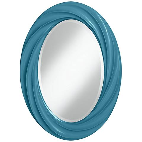 "Great Falls 30"" High Oval Twist Wall Mirror"