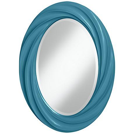 """Great Falls 30"""" High Oval Twist Wall Mirror"""