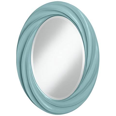"Raindrop 30"" High Oval Twist Wall Mirror"