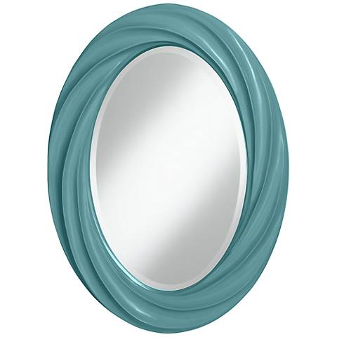 "Reflecting Pool 30"" High Oval Twist Wall Mirror"