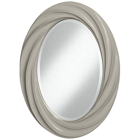 "Requisite Gray 30"" High Oval Twist Wall Mirror"