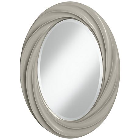 """Requisite Gray 30"""" High Oval Twist Wall Mirror"""