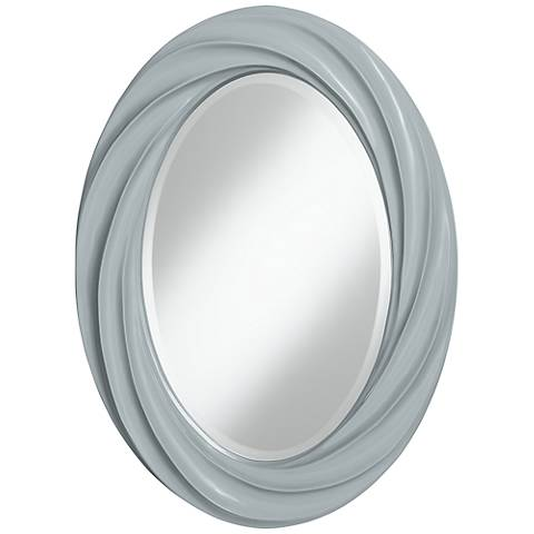 "Uncertain Gray 30"" High Oval Twist Wall Mirror"