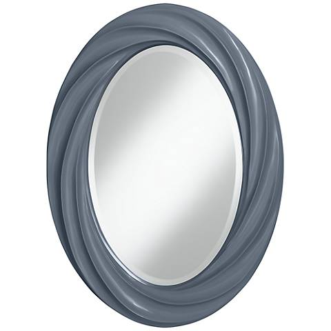 "Granite Peak 30"" High Oval Twist Wall Mirror"