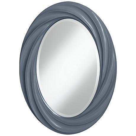 """Granite Peak 30"""" High Oval Twist Wall Mirror"""