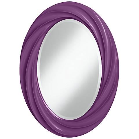 "Kimono Violet 30"" High Oval Twist Wall Mirror"