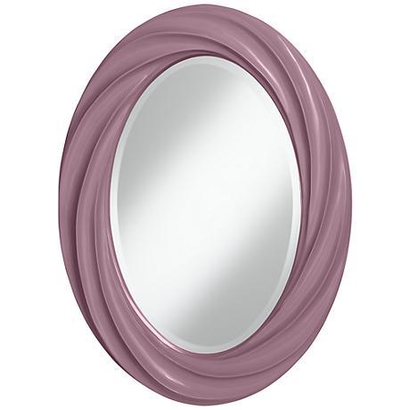 """Plum Dandy 30"""" High Oval Twist Wall Mirror"""
