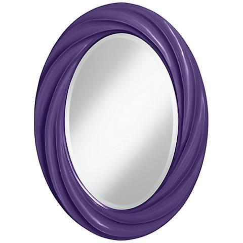 """Izmir Purple 30"""" High Oval Twist Wall Mirror"""