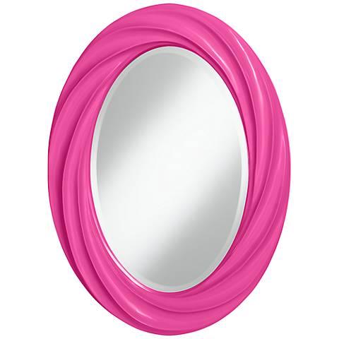 """Fuchsia 30"""" High Oval Twist Wall Mirror"""